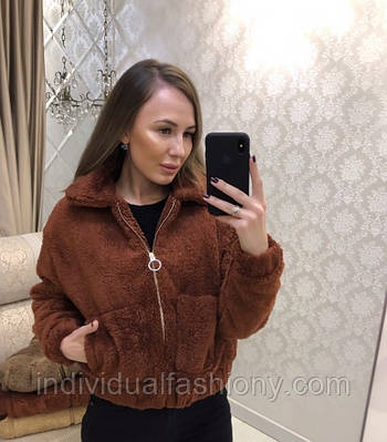 Куртка овчина на молнии