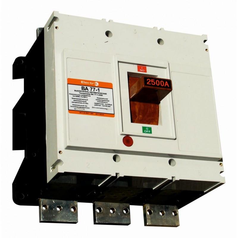 Выключатель автоматический ВА77-1-2500 3 П  2500А   4-6In  Icu 85кА  с электроприводом   + доп. контакт