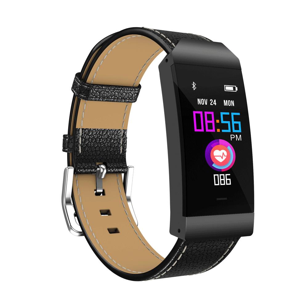 Смарт фитнес браслет S7 цветной IPS дисплей тонометр давления крови iPhone и Android трекер пульсометр черный