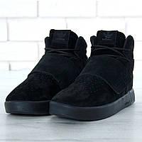 Зимние кроссовки черные мужские Адидас Тубулар (Adidas Tubular) размеры 40 a61af8eea2c1c