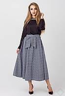 Модная длинная юбка на пуговицах Марсель, фото 1