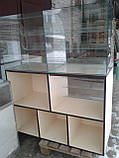 Витрины торговые ДСП б/у, Стеклянные витрины б у, торговые прилавки ДСП б/у, витрина под стеклом б у, фото 2