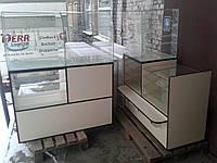 Витрины торговые ДСП б/у, Стеклянные витрины б у, торговые прилавки ДСП б/у, витрина под стеклом б у, фото 1