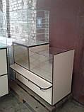Витрины торговые ДСП б/у, Стеклянные витрины б у, торговые прилавки ДСП б/у, витрина под стеклом б у, фото 6