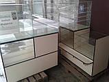 Витрины торговые ДСП б/у, Стеклянные витрины б у, торговые прилавки ДСП б/у, витрина под стеклом б у, фото 7