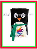 Пледы флисовые пингвин с возможностью нанесения логотипа (от 50 шт.)