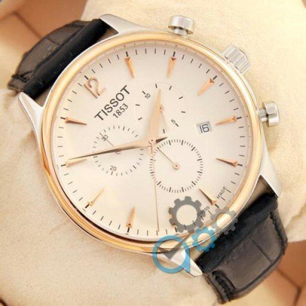 Часы наручные Tissot quartz Chronograph Black/Silver-Gold/White