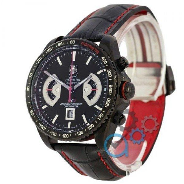 Часы наручные Tag Heuer Grand Carrera Calibre 17 RS2 Quartz All Black-Red