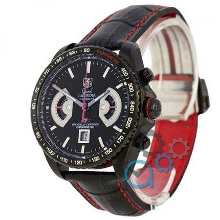 Часы наручные Tag Heuer Grand Carrera Calibre 17 RS2 Quartz All Black-Red, фото 2