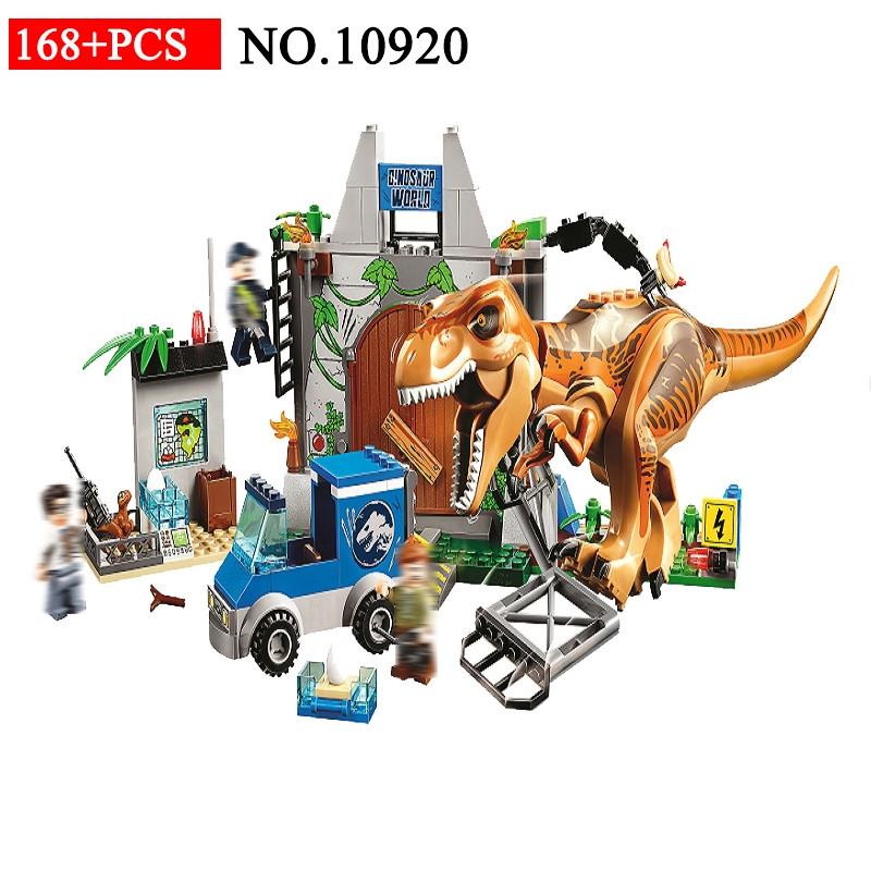 Конструктор 10920 Динозавры Побег Ти-Рекса 168 деталей