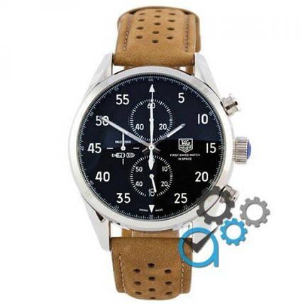 Часы наручные Tag Heuer Carrera 1887 SpaceX Chronograph Brown-Silver-Black, фото 2