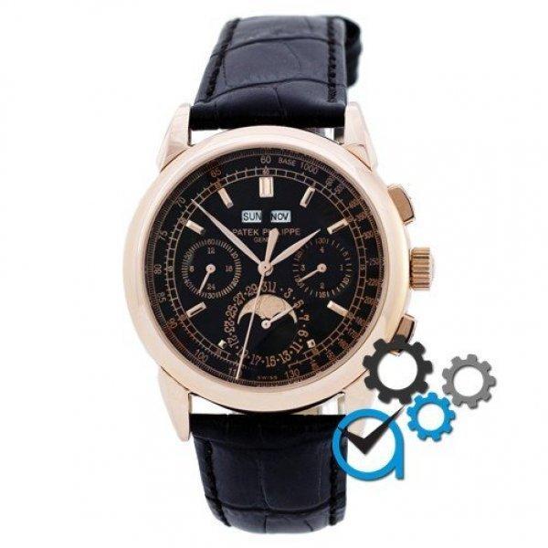 Часы наручные Patek Philippe Gold-Black-Black
