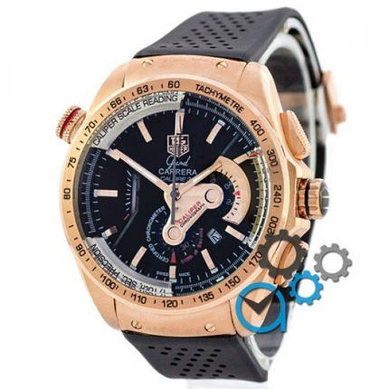 Часы наручные Tag Heuer Grand Carrera Calibre 36 quartz Chronograph Gold, фото 2