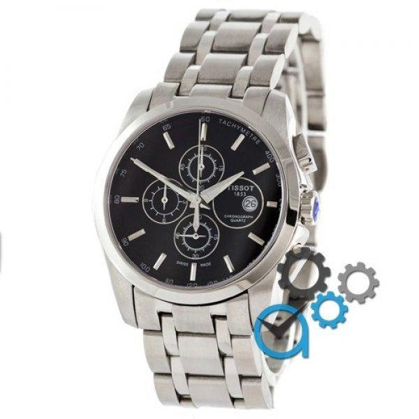 Часы наручные Tissot T-Classic Couturier Chronograph Steel Silver-Black