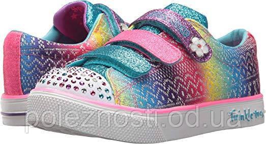 Скетчерсы для девочки Skechers Kids' Twinkle Breeze 2.0-Sunshine Sneaker (USA оригинал), 3 ам.размер