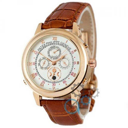 Часы наручные Patek Philippe Grand Complications 5002 Sky Moon Brown-Gold-White, фото 2