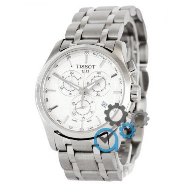 Часы наручные Tissot T-Classic Couturier Chronograph Steel Silver-White