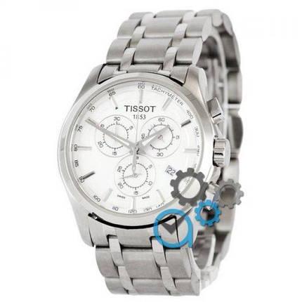 Часы наручные Tissot T-Classic Couturier Chronograph Steel Silver-White, фото 2