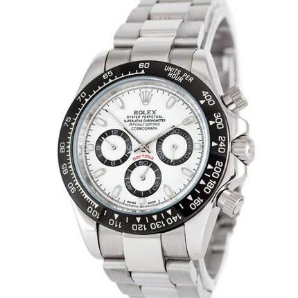 Часы наручные Rolex Cosmograph Daytona AAA Silver-Black-White-Black, фото 2