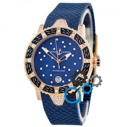 Часы наручные Ulysse Nardin Marine Lady Diver Starry Night Blue-Gold-Blue, фото 2