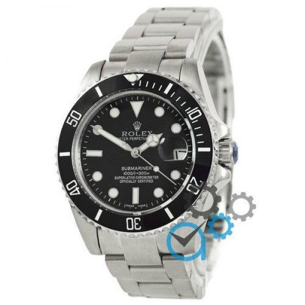 Часы наручные Rolex Submariner AAA Date Silver-Black