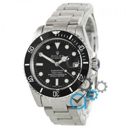 Часы наручные Rolex Submariner AAA Date Silver-Black, фото 2