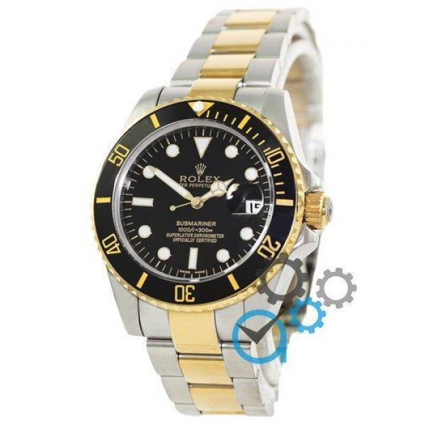 Часы наручные Rolex Submariner AAA Date Silver-Gold-Black