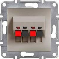 Розетка акустическая, стерео (бронза) ASFORA SCHNEIDER ELECTRIC EPH5700169