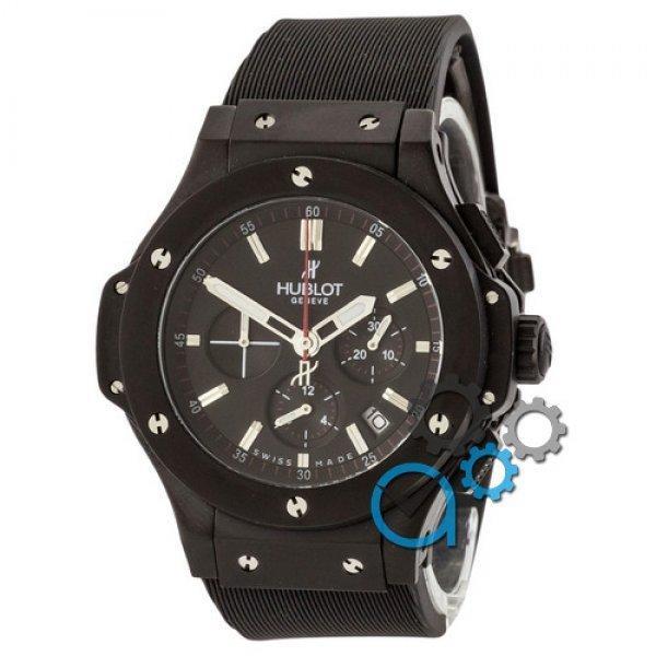 Часы наручные Hublot Big Bang Chronograph All Black-Silver AAA