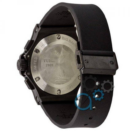 Часы наручные Hublot Big Bang Chronograph All Black-Silver AAA, фото 2