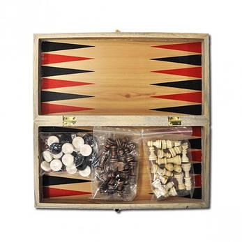 Шахматы деревянные 3 в 1,, фото 2