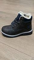 Ботинки зимние для мальчика, ArrigoBello, антрацит, размер 29,30,31,32,33,34,35,36
