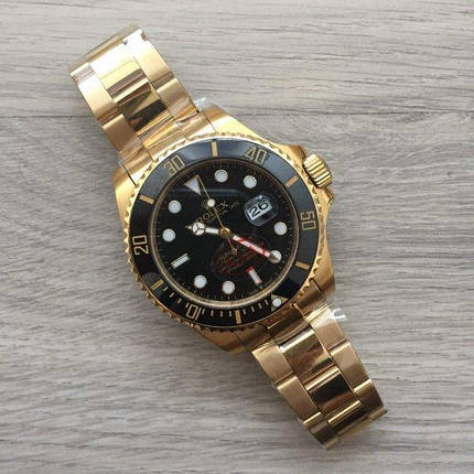 Rolex Submariner AAA Gold-Black B, фото 2