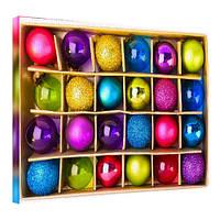 Картина на холсте Новогодние украшения 45х65 см (H4565_YM026)