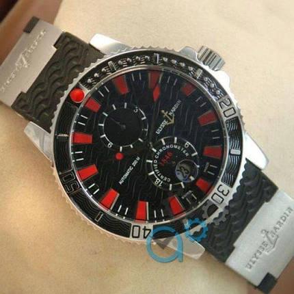 Часы наручные Ulysse Nardin Maxi Marine Diver Silver-Black-Red, фото 2