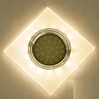 Точечный светильник с LED подсветкой встраиваемый матовый белый 7870S