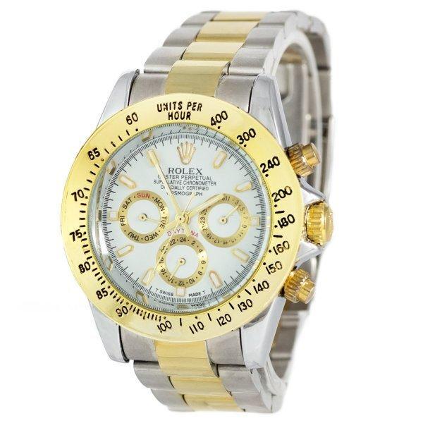 Часы наручные Rolex Daytona AA Men Silver-Gold-White