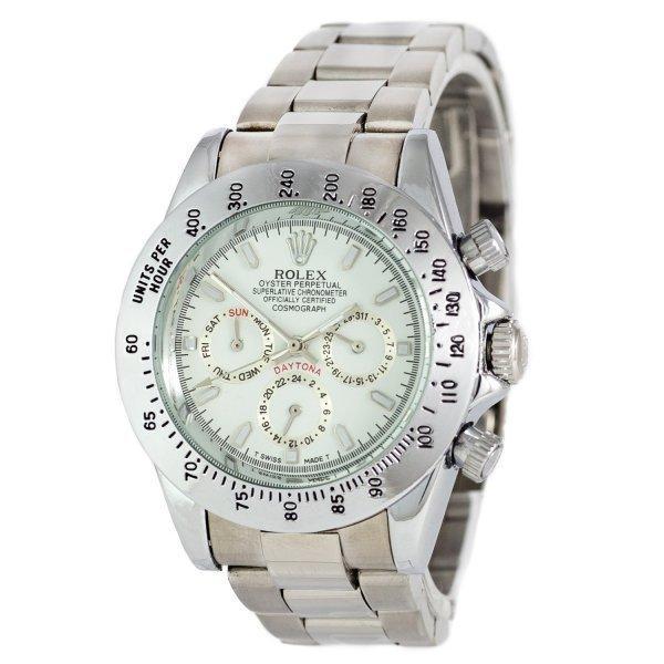 Часы наручные Rolex Daytona AA Men Silver-White