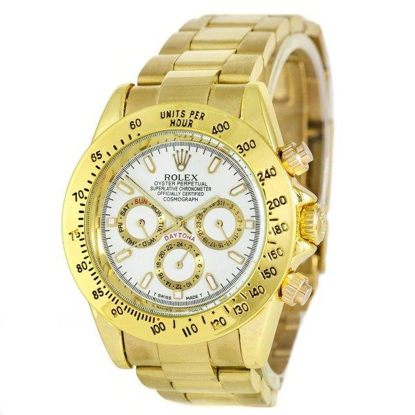 Часы наручные Rolex Daytona AA Men Gold-White