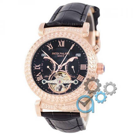 Часы наручные Patek Philippe Grand Complications Power Tourbillon Black-Gold-Black, фото 2