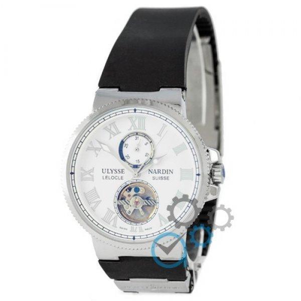 Часы наручные Ulysse Nardin Maxi Marine Tourbillon Black-Silver-White