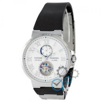 Часы наручные Ulysse Nardin Maxi Marine Tourbillon Black-Silver-White, фото 2