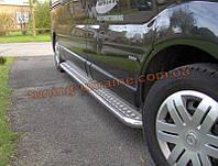 Пороги боковые подножки площадки нержавейка на Opel Vivaro 2001-2014 короткая база