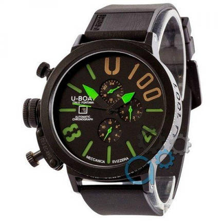 Часы наручные U-Boat Italo Fontana All Black-Green, фото 2