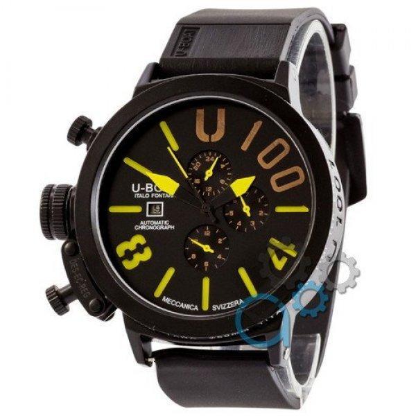 Часы наручные U-Boat Italo Fontana All Black-Yellow