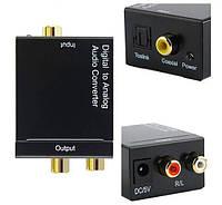 ЦАП Аудио конвертер с оптики(Toslink) на тюльпаны(3.5 Jack), фото 1