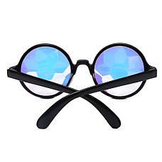 Очки калейдоскоп, круглые солнцезащитные очки, черные, фото 3