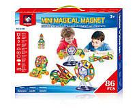 Магнитный конструктор Mini magical magnet 86 дет., магнитный конструктор magformers, magnetics, Magnetic Block
