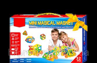 Магнитный конструктор Mini magical magnet 32 дет., магнитный конструктор magformers, magnetics, Magnetic Block