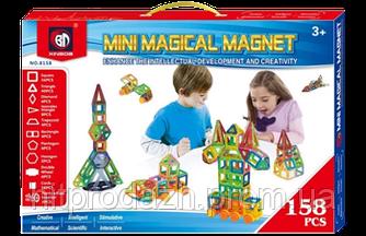 Магнитный конструктор Mini magical magnet 158 дет., магнитный конструктор magformers, magnetics, Magnetic Bloc